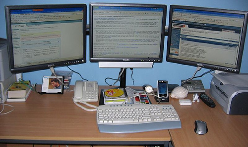 Danny Sullivan's multiple monitor setup